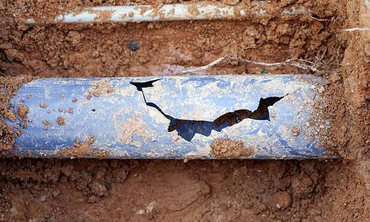 Plastic Drainage Pipe Broken